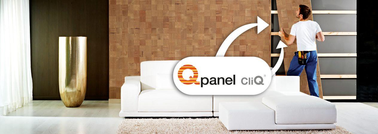 Qpanel CliQ, clickwall voor een snelle en hoogwaardige renovatie en afwerking van complete wanden.